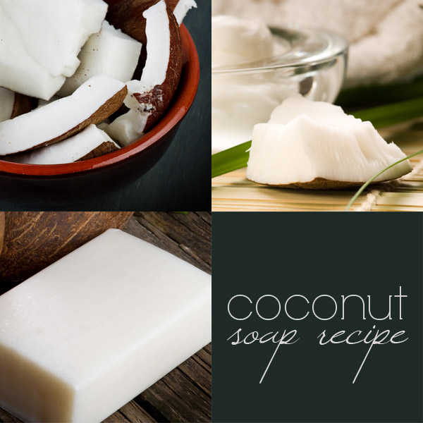 Coconut soap recipe: how to make cold process coconut soap
