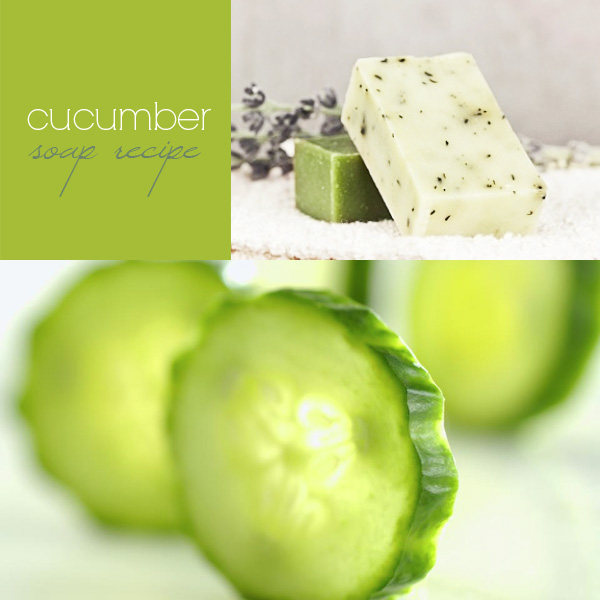 Cucumber soap recipe: how to make a shoothing cucumber soap (cold process)
