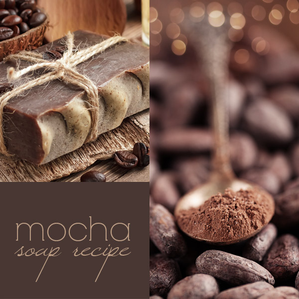 Mocha soap recipe: how to make coffee cold process soap