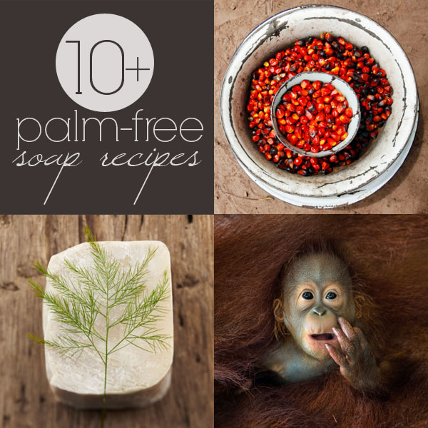 Palm-free soap recipes: how to make palm-free cold process soaps