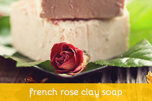 French Rose Clay Soap