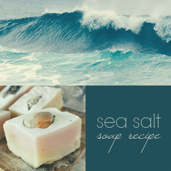 Sea salt soap recipe: how to make cold process sea salt soap bars